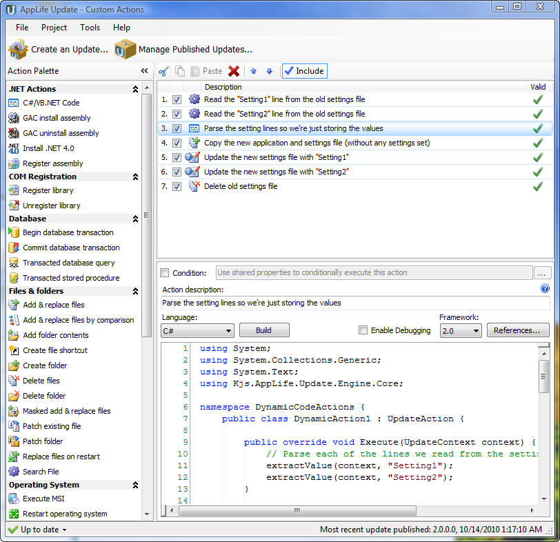 Complete Automatic Update Solution for .Net. Create, Publish, Download, Apply.