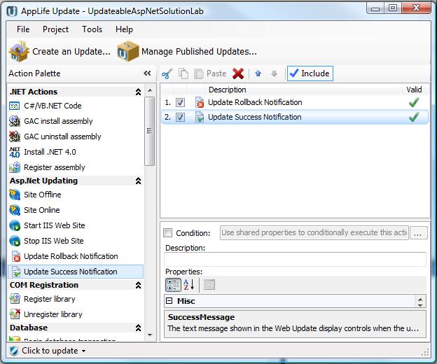 publish web vb version updating not net